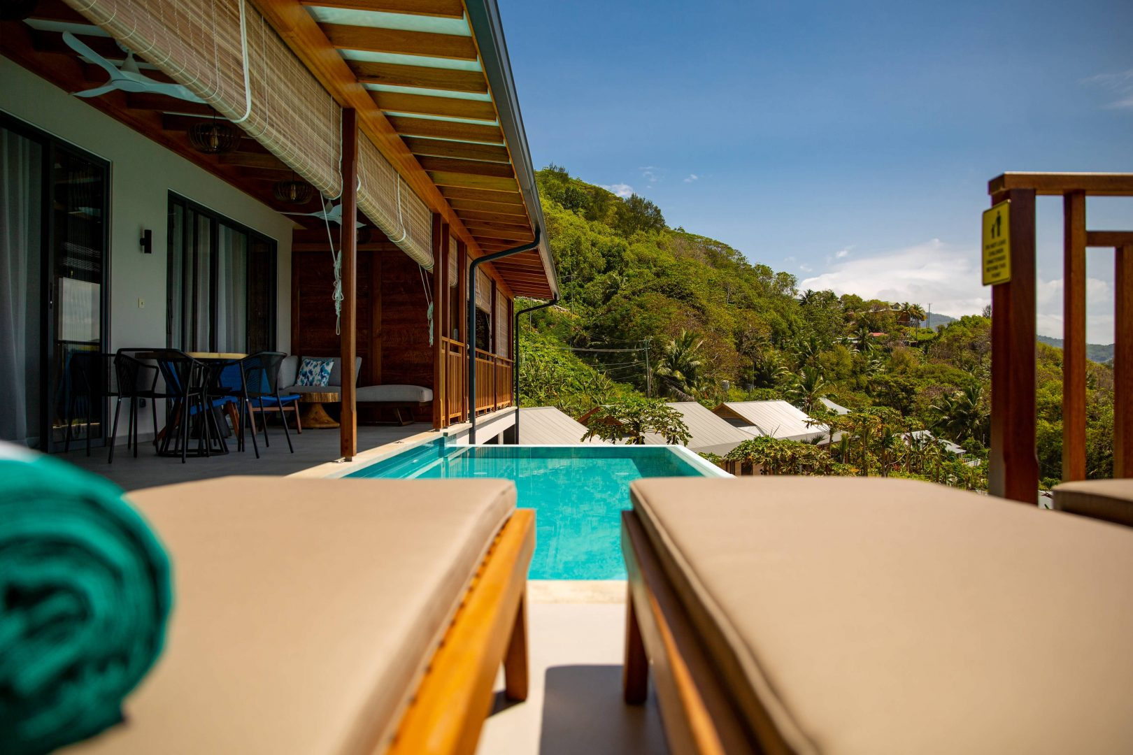 Superior Chalet - pool, terrace view
